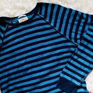 LUCKY BRAND • True Indigo Blue Stripe Raglan Shirt
